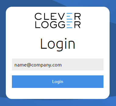 Login with your email address