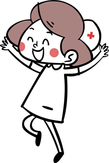The-CleverLogger-nurse-jumps-for-joy
