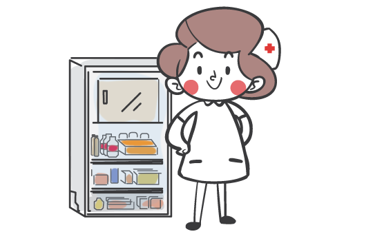 Nurse-with-fridge